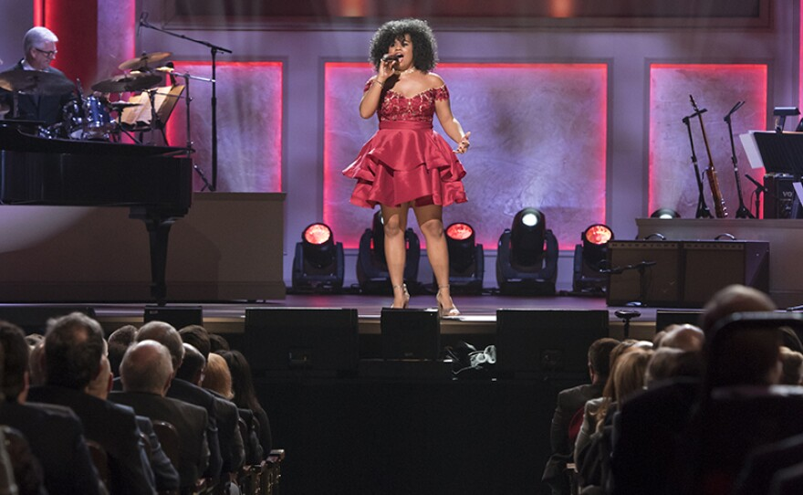 Wé McDonald performs during the Library of Congress Gershwin Prize for Popular Song, taped on Nov. 15, 2017 at the Daughters of the American Revolution (DAR) Constitution Hall in Washington, D.C.