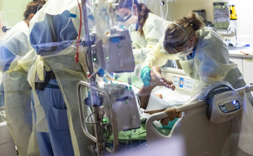Hospitals in Idaho, like St. Luke's Boise Medical Center in Boise, remain full after the summer delta surge pushed many to their limits.