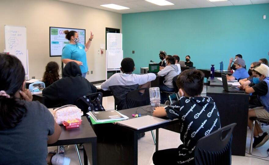 Michelle Dion-Bernier teaching at Urban Discovery School San Diego, CA September 22, 2021