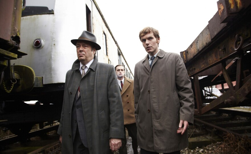 Roger Allam as DI Thursday, Jack Laskey as DS Peter Jakes and Shaun Evans as Endeavour.