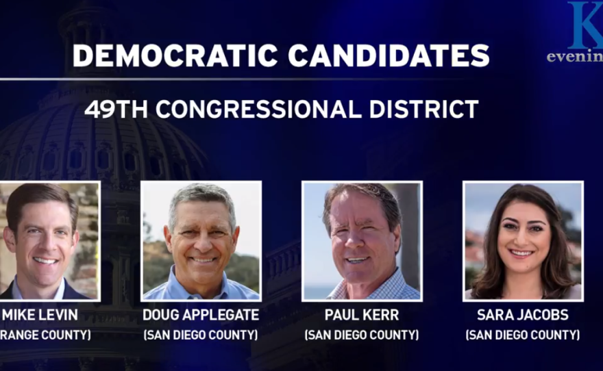 There are four Democratic candidates running for Republican Darrell Issa's 49th Congressional District, March 2018.