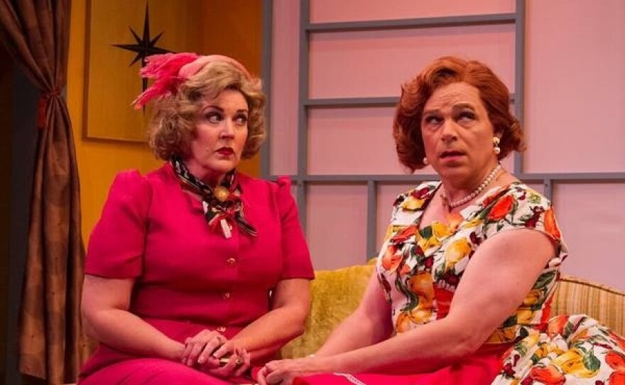 """Melinda Gilb and Phil Johnson star in She-Rantulas From Outer Space in 3D"""" at Diversionary Theatre."""