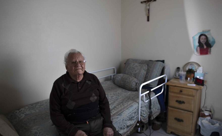 Francisco Rios is pictured in his home in this undated photo.
