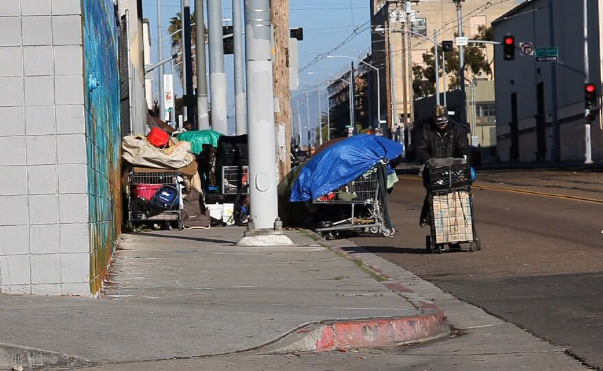 Homeless camps in downtown San Diego, March 14, 2014