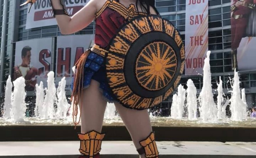 This Wonder Woman cosplayer made her costume out of tiny beads. March 30, 2019