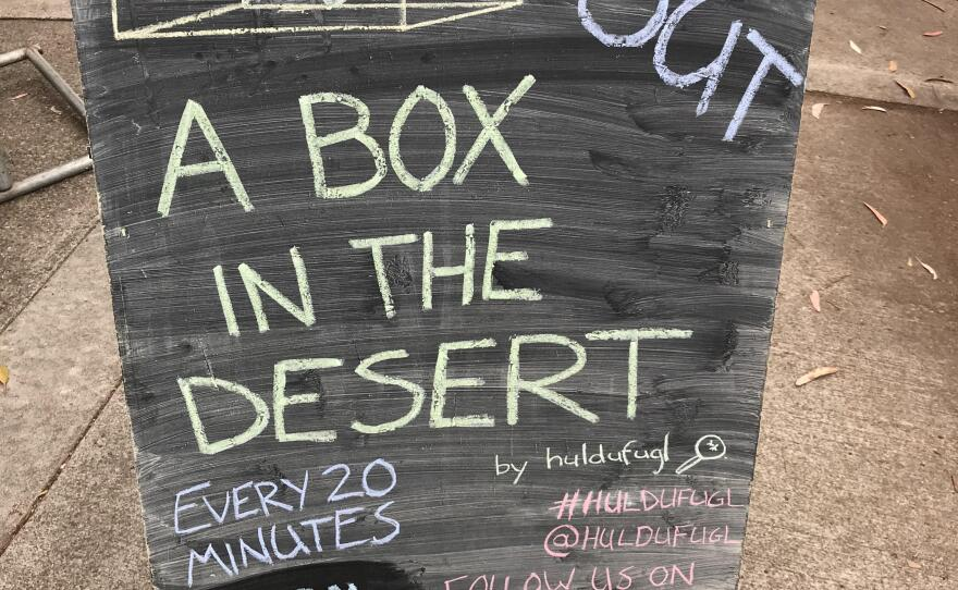 """Huldufugl's show """"A Box in the Desert"""" almost immediately sold out all of its 40 performances at San Diego International Fringe."""