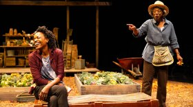 """Charlayne Woodard (left) and Stephanie Berry in La Jolla Playhouse's world-premiere production of """"The Garden,"""" by Charlayne Woodard. The play opens Sept. 21, 2021 and is co-directed by Patricia McGregor and Delicia Turner Sonnenberg."""