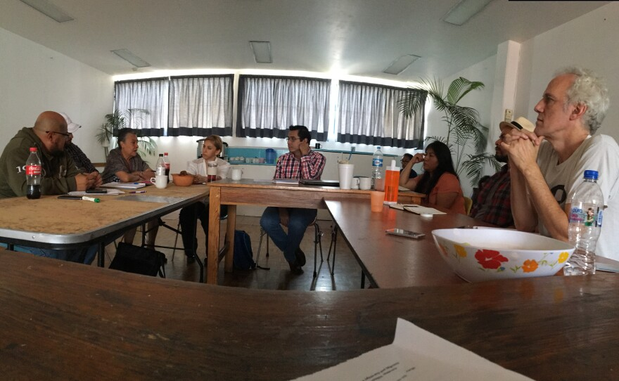 San Diego-based human rights activists meet in Mexico City, June 14, 2016.