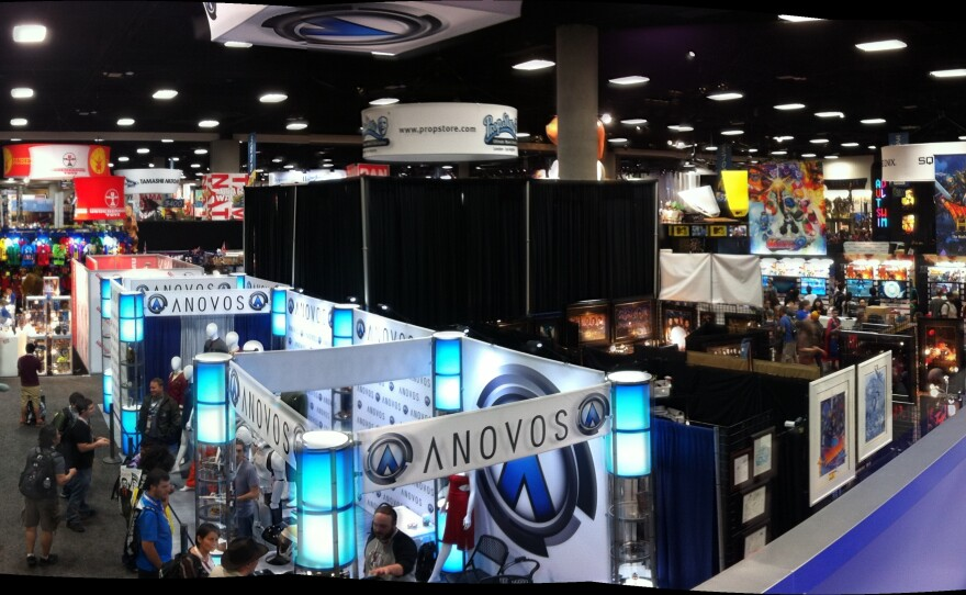 A panoramic view of the Comic-Con exhibit hall, July 10, 2015.
