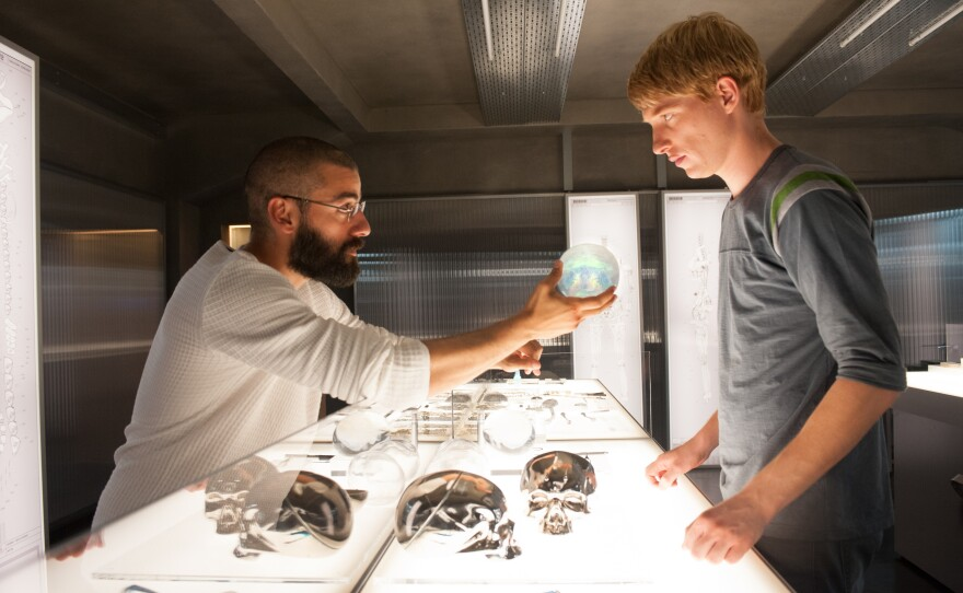 """Oscar Isaac and Domhnall Gleeson debate what it is that makes us human in the new sci-fi film, """"Ex Machina."""""""