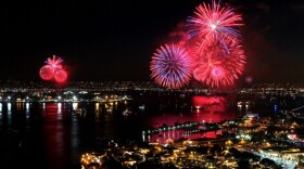 Fireworks during the Big Bay Boom, July 4, 2014.