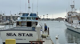 Captain Joe Cacciola walks next to his sport fishing boat, the Sea Star, in Oceanside. July 30, 2021.