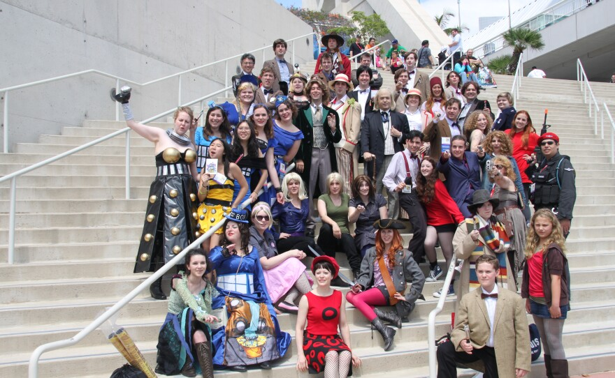"""A gathering of """"Doctor Who"""" cosplayers at a past Comic-Con, July 24, 2011."""
