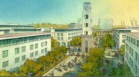 A rendering of the SDSU West plan to redevelop SDCCU Stadium is shown in this undated image.