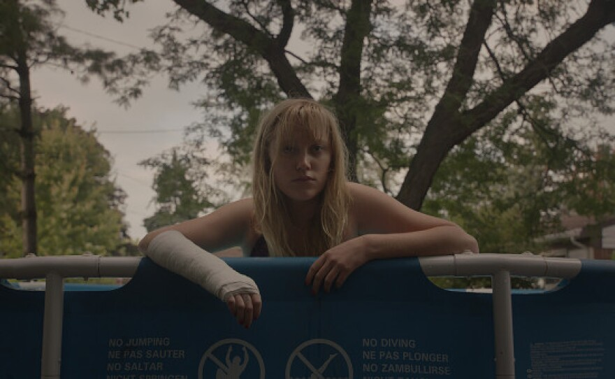 """Maika Monroe stars in the new horror film """"It Follows,"""" opening today in San Diego."""