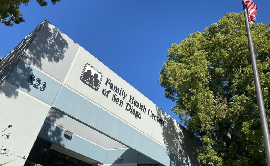 The exterior of Family Health Centers of San Diego, Dec. 31, 2019 .