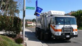 A City of San Diego trash collection truck is pictured in this undated photo.