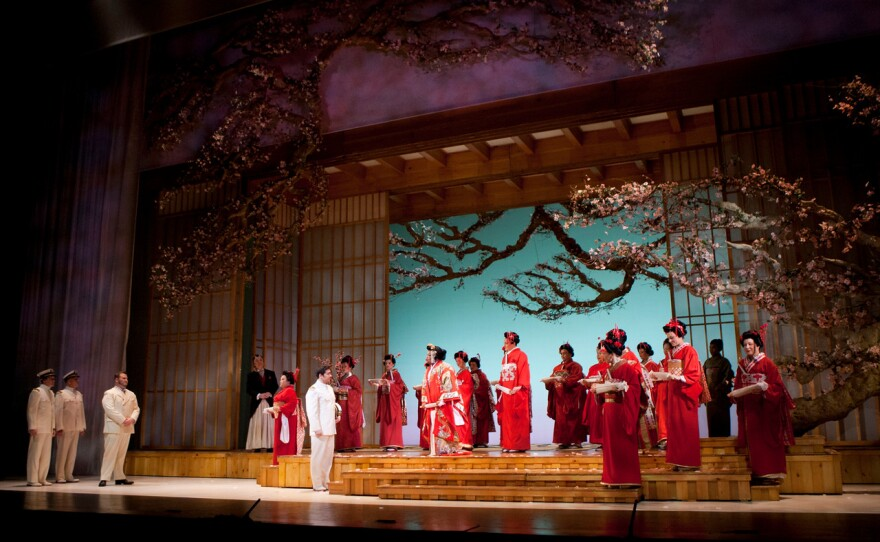 """A scene from San Diego Opera's """"Madama Butterfly"""" and its impressive set design."""
