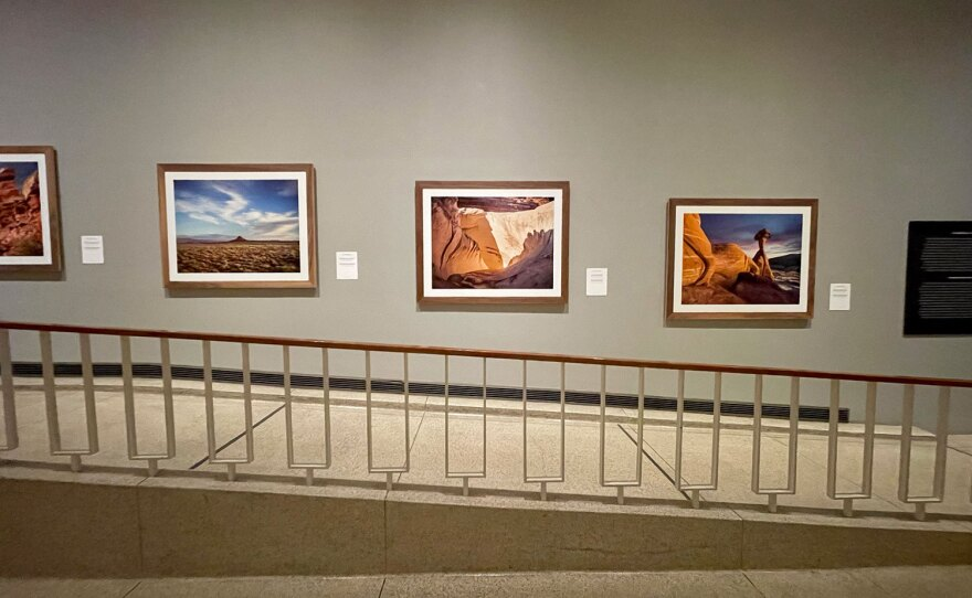 "A portion of John Raymond Mireles' exhibition, ""Disestablishment,"" on view at the San Diego Museum of Art's free gallery near Panama 66 through January 30, 2022."
