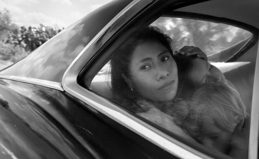"""Yalitza Aparicio plays Cleo, a maid who also looks after the children of a family in """"Roma."""""""