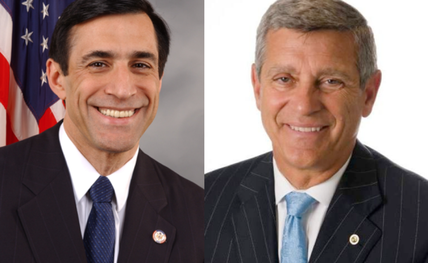 Vista Republican Congressman Darrell Issa and Democrat attorney Doug Applegate.