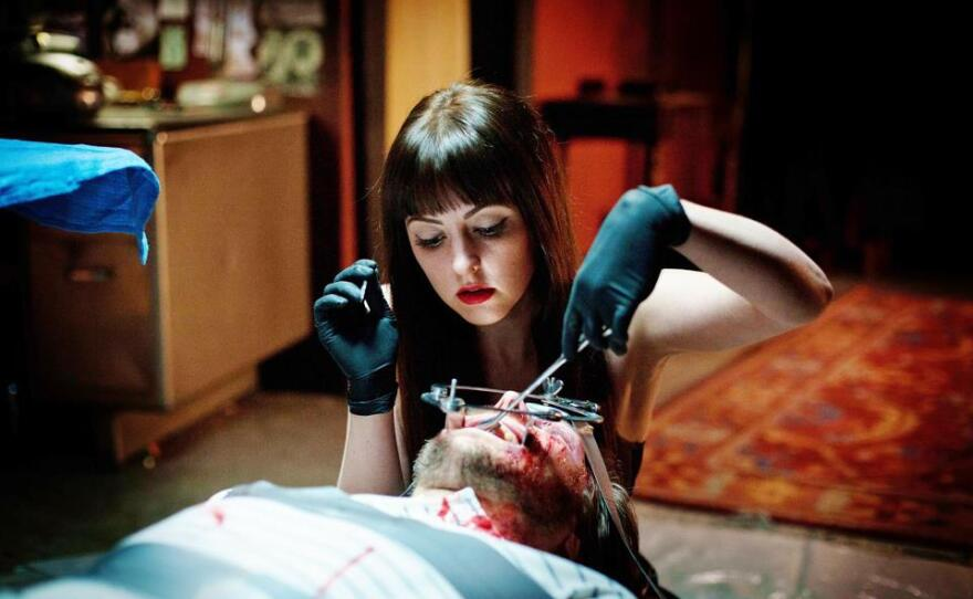 """Katherine Isabelle as """"American Mary,"""" from the Twisted Twins, Jen and Sylvia Soska."""