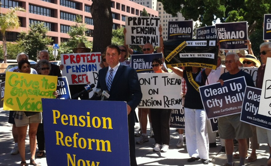 City Councilman Carl DeMaio calls for implementation of Proposition B on July 26, 2012.