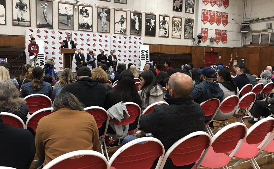 San Diego mayoral debate at Hoover High school, Jan. 2020.