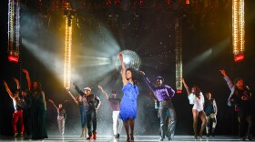 """A 2016 photo of the cast of La Jolla Playhouse's world premiere of """"Summer: The Donna Summer Musical."""""""
